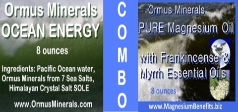 Ormus Minerals Ocean Energy with PURE Magnesium Oil with Frankincense and Myrrh