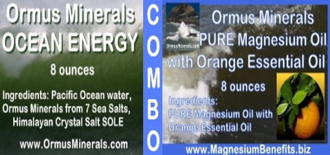 Ormus Minerals Ocean Energy with PURE Magnesium Oil with Orange