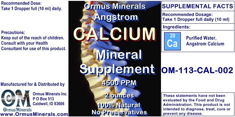 Angstrom Calcium Minerals Supplement 2 ounces