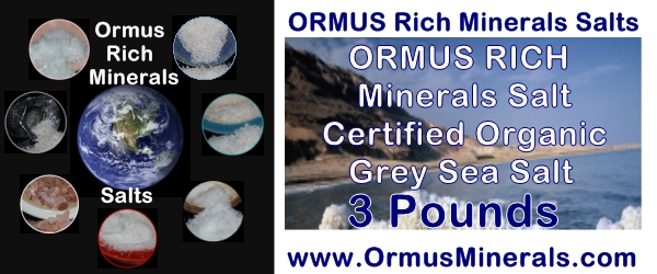 Rich Ormus Minerals Organic Certified Grey Sea Salt 3 lb